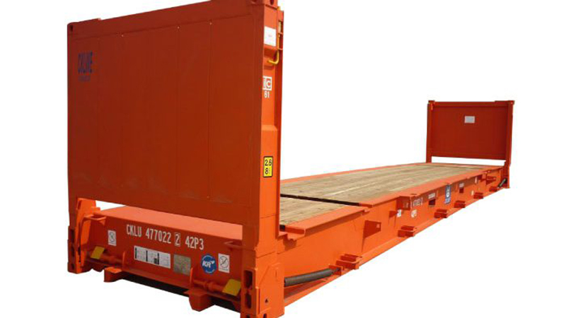 Container mặt bằng (Platform/ Flat rack container)